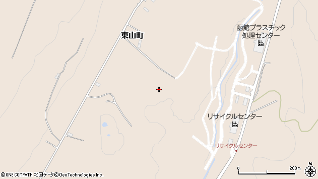 〒041-0834 北海道函館市東山町の地図