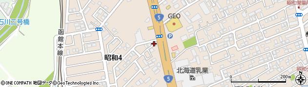 渡島昭和簡易郵便局周辺の地図