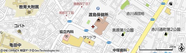 北海道函館市美原周辺の地図