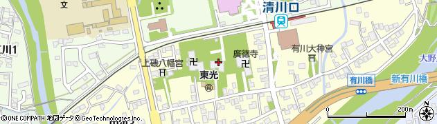 禅林寺中寺周辺の地図