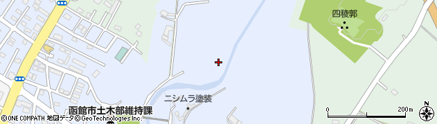 北海道函館市神山町周辺の地図