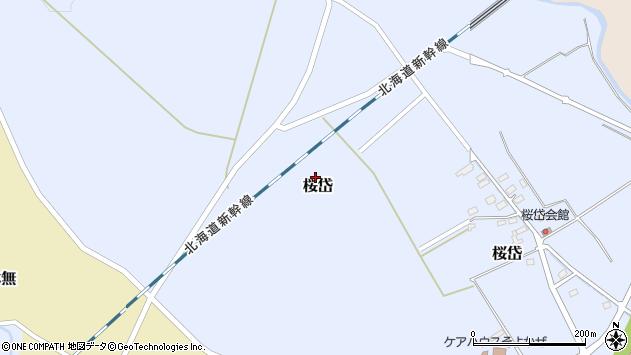 〒049-0151 北海道北斗市桜岱の地図