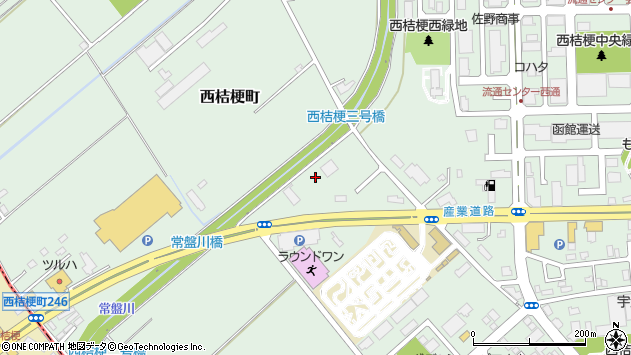 〒041-0824 北海道函館市西桔梗町の地図