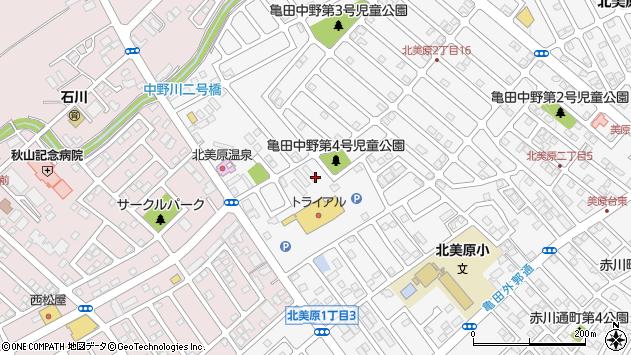 〒041-0807 北海道函館市北美原の地図