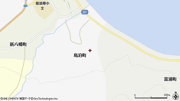 〒041-0602 北海道函館市島泊町の地図