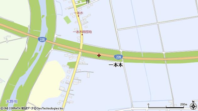 〒041-1223 北海道北斗市一本木の地図