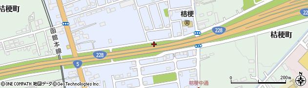 北海道函館市桔梗周辺の地図