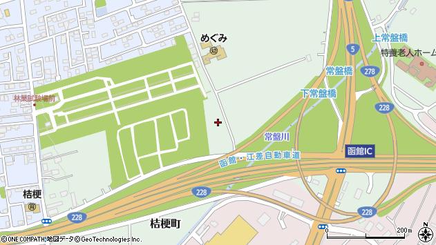〒041-0801 北海道函館市桔梗町の地図