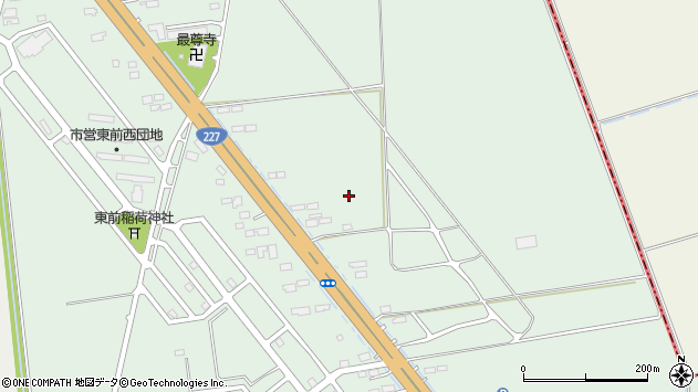 〒041-1214 北海道北斗市東前の地図
