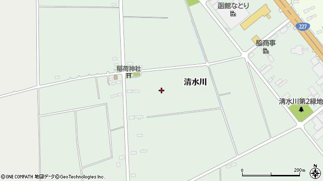 〒041-1221 北海道北斗市清水川の地図