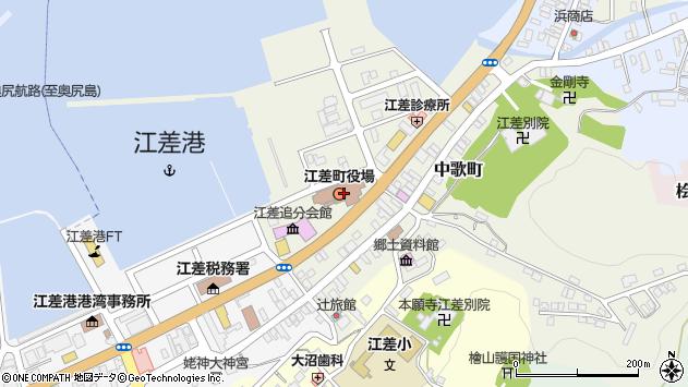 〒043-0046 北海道檜山郡江差町江差港北埠頭の地図