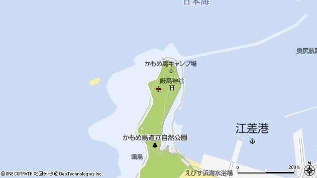 〒043-0045 北海道檜山郡江差町鴎島の地図