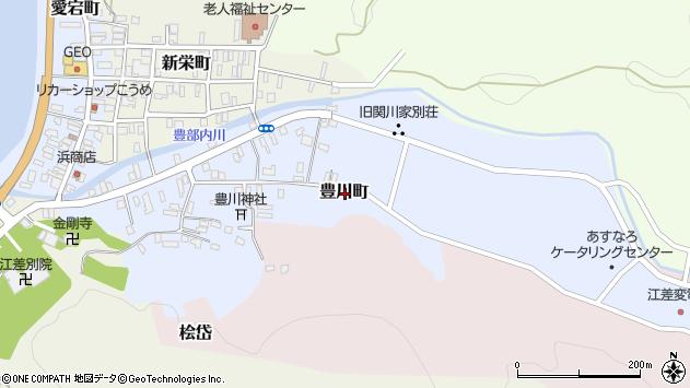 〒043-0033 北海道檜山郡江差町豊川町の地図