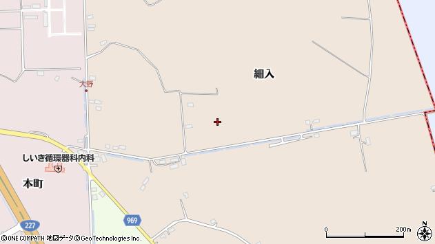 〒041-1212 北海道北斗市細入の地図