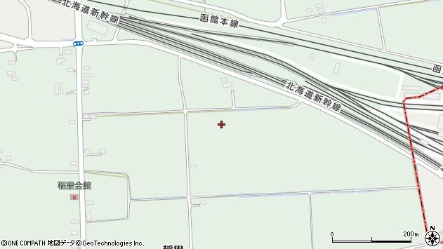 〒041-1241 北海道北斗市稲里の地図