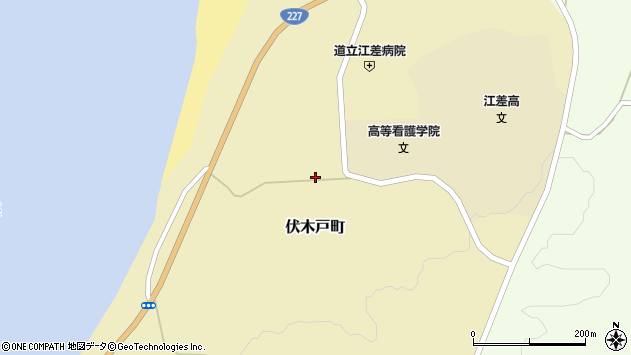 〒043-0022 北海道檜山郡江差町伏木戸町の地図