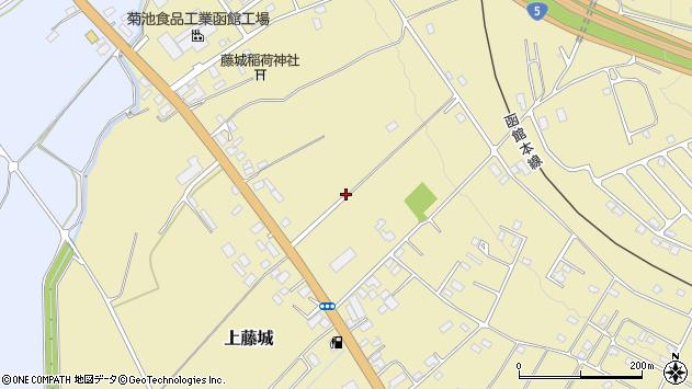〒041-1104 北海道亀田郡七飯町上藤城の地図