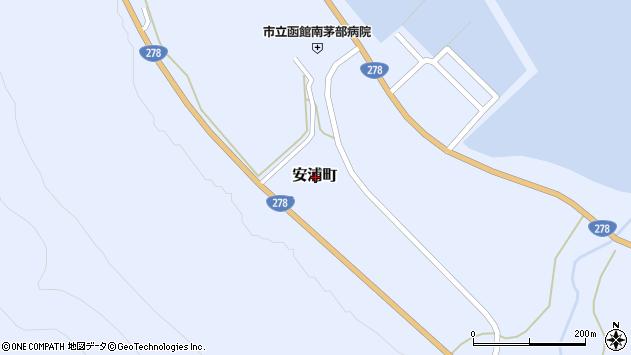 〒041-1612 北海道函館市安浦町の地図