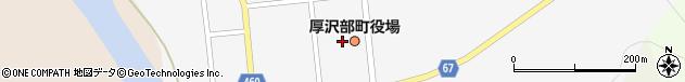 北海道檜山郡厚沢部町周辺の地図
