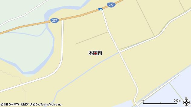 〒043-1234 北海道檜山郡厚沢部町木間内の地図