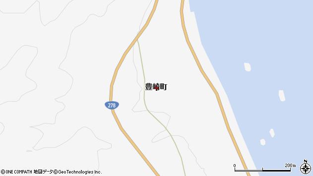 〒041-1621 北海道函館市豊崎町の地図