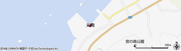北海道乙部町(爾志郡)元町周辺の地図