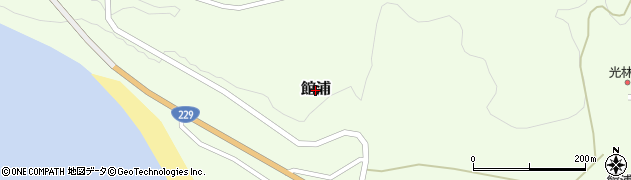 北海道乙部町(爾志郡)館浦周辺の地図