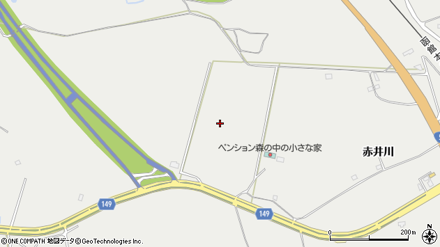 〒049-2142 北海道茅部郡森町赤井川の地図