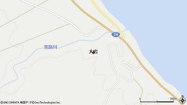 〒041-1401 北海道茅部郡鹿部町大岩の地図