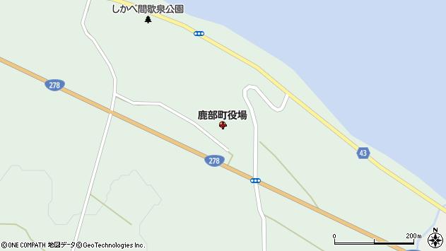 〒041-1400 北海道茅部郡鹿部町(以下に掲載がない場合)の地図