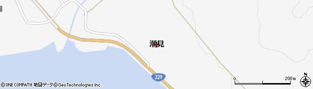 北海道乙部町(爾志郡)潮見周辺の地図