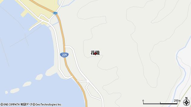 〒043-0232 北海道爾志郡乙部町花磯の地図