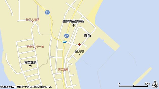 〒043-1521 北海道奥尻郡奥尻町青苗の地図
