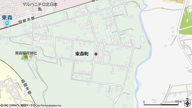 〒049-2303 北海道茅部郡森町東森町の地図