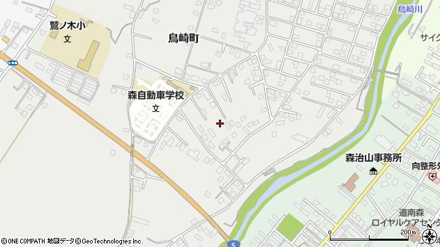 〒049-2323 北海道茅部郡森町鳥崎町の地図