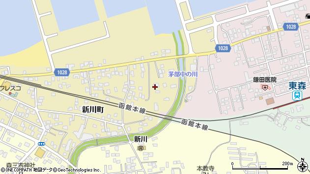〒049-2304 北海道茅部郡森町新川町の地図