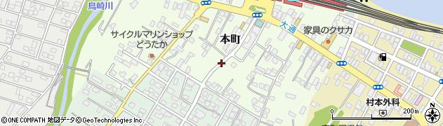 北海道森町(茅部郡)本町周辺の地図