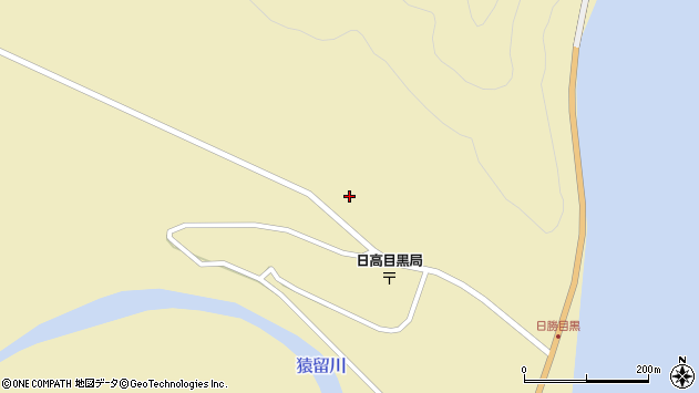 〒058-0422 北海道幌泉郡えりも町目黒の地図