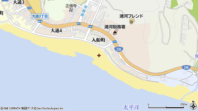 〒057-0014 北海道浦河郡浦河町入船町の地図