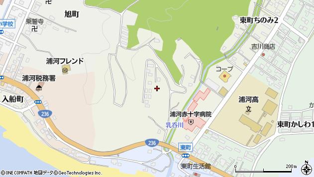 〒057-0007 北海道浦河郡浦河町東町ちのみの地図