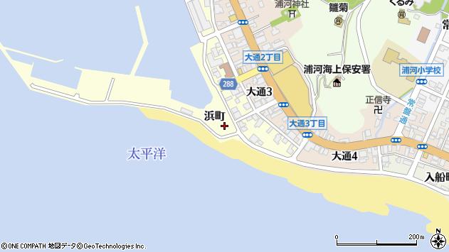 〒057-0015 北海道浦河郡浦河町浜町の地図