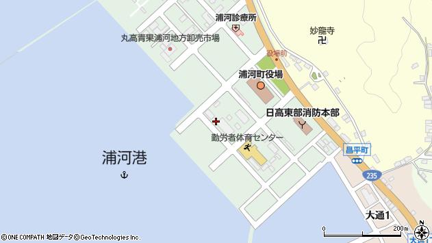 〒057-0024 北海道浦河郡浦河町築地の地図