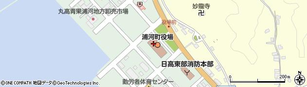 北海道浦河郡浦河町周辺の地図