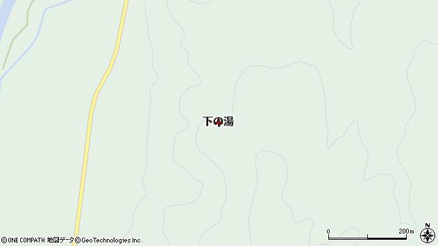 〒049-2565 北海道二海郡八雲町下の湯の地図