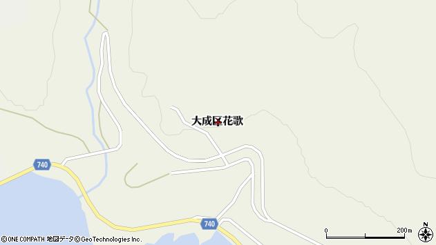 〒043-0512 北海道久遠郡せたな町大成区花歌の地図