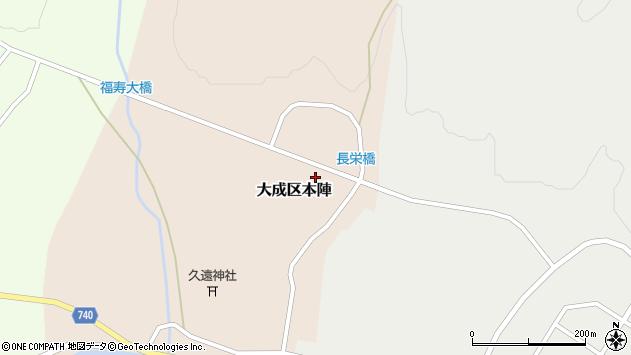 〒043-0505 北海道久遠郡せたな町大成区本陣の地図