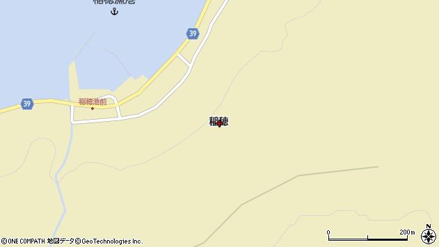 〒043-1405 北海道奥尻郡奥尻町稲穂の地図