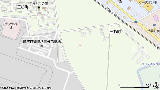 〒049-3114 北海道二海郡八雲町三杉町の地図