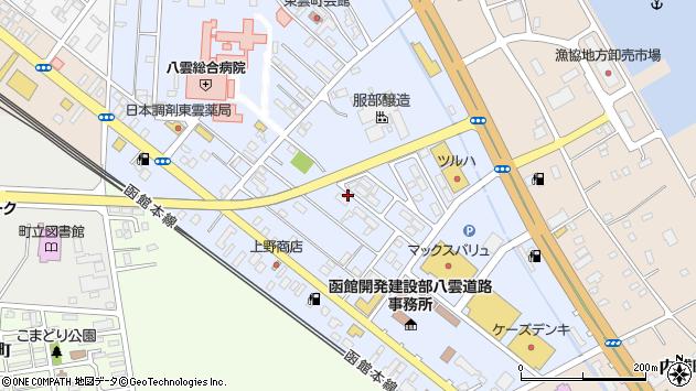 〒049-3105 北海道二海郡八雲町東雲町の地図