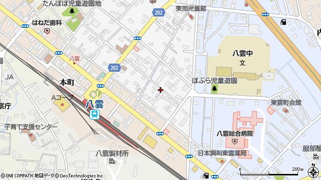 〒049-3106 北海道二海郡八雲町富士見町の地図